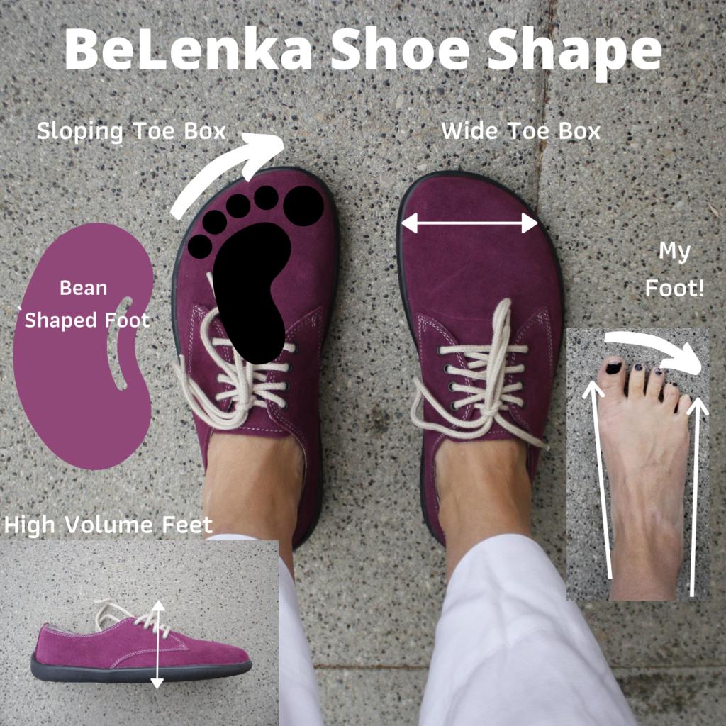 Belenka shoes match foot shape