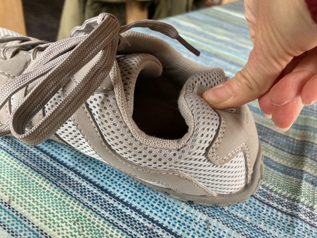 heel cap ballop pellet sneaker