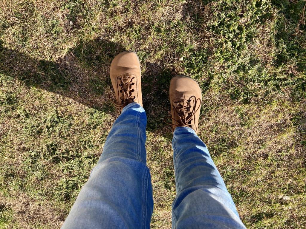 image of jeans and freet elgon shoes
