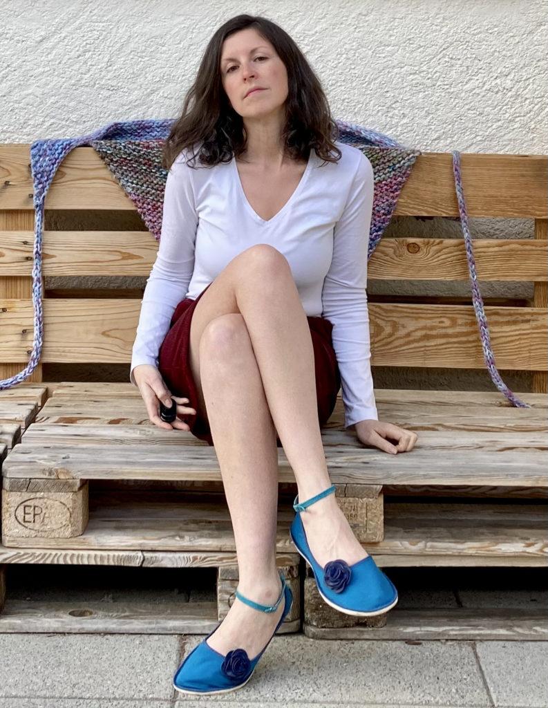 girl wearing shoes